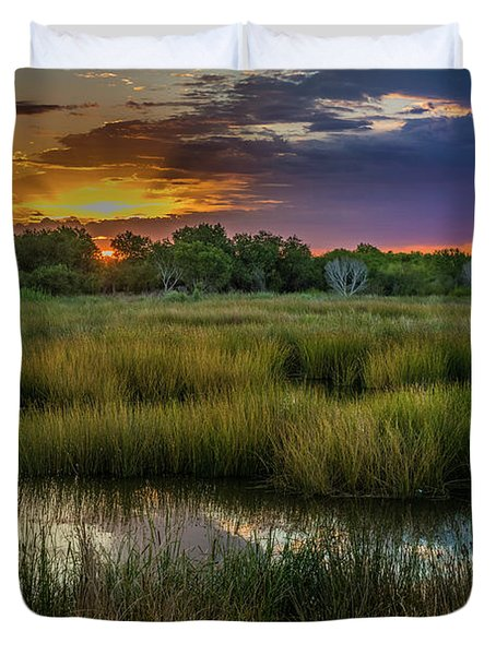 East Wetlands Sunrise Duvet Cover