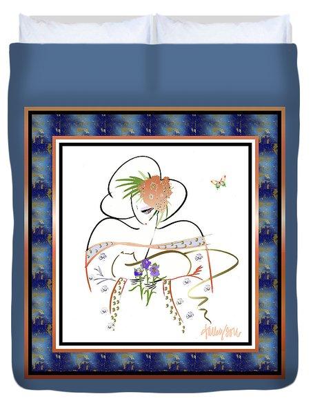 East Wind - Temple Cat Duvet Cover