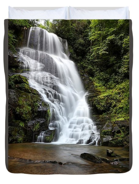 Eastatoe Falls Rages Duvet Cover