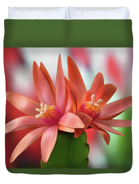 Easter Cactus Duvet Cover