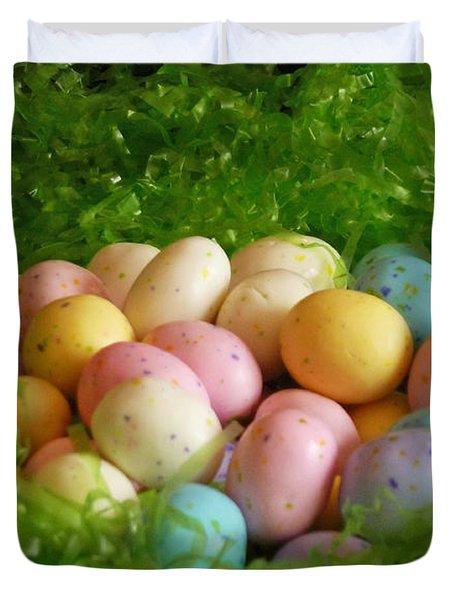 Easter Egg Nest Duvet Cover by Methune Hively