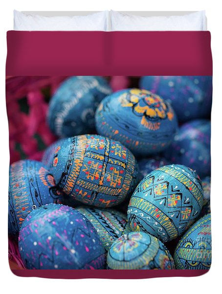 Easter Eggs Duvet Cover