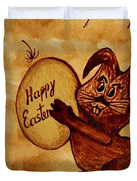 Easter Golden Egg For You Duvet Cover by Georgeta  Blanaru