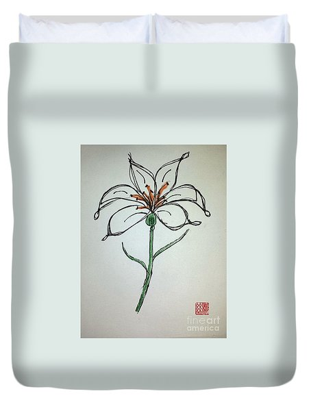 Easter Lily Duvet Cover
