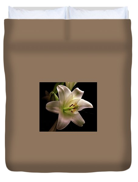 Easter Lily Three Duvet Cover