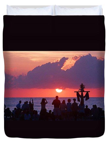 Easter Sunrise Beach Service Duvet Cover