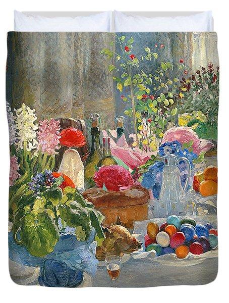 Easter Table Duvet Cover