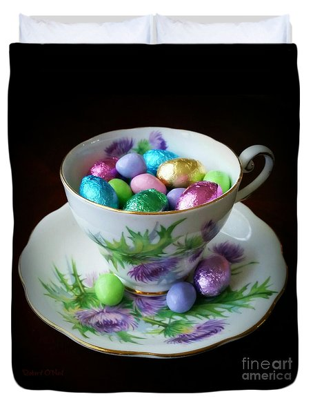 Easter Teacup Duvet Cover by Robert ONeil