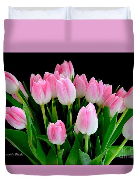 Easter Tulips  Duvet Cover