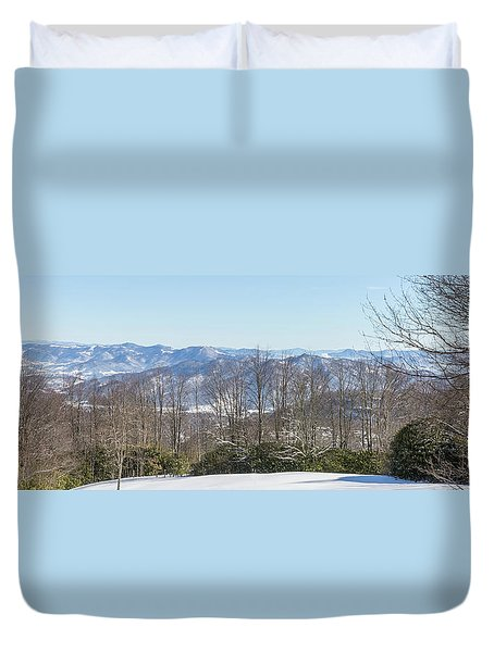 Easterly Winter View Duvet Cover