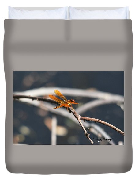 Eastern Amberwing Duvet Cover