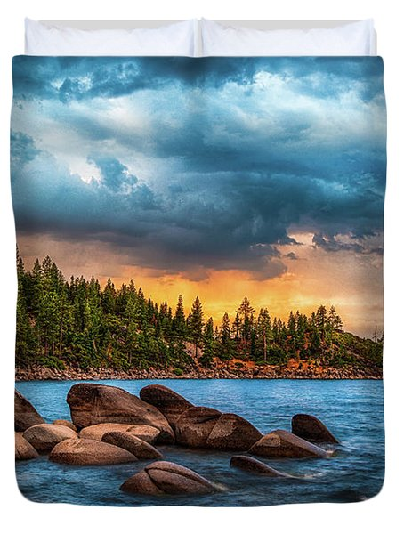 Eastern Glow At Sunset Duvet Cover