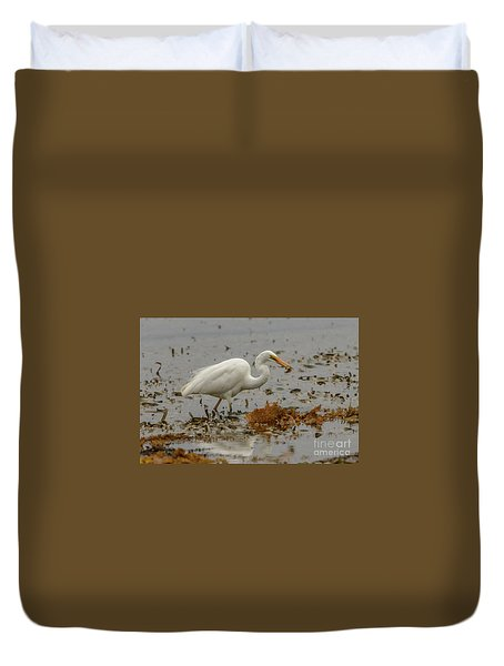 Eastern Great Egret 10 Duvet Cover