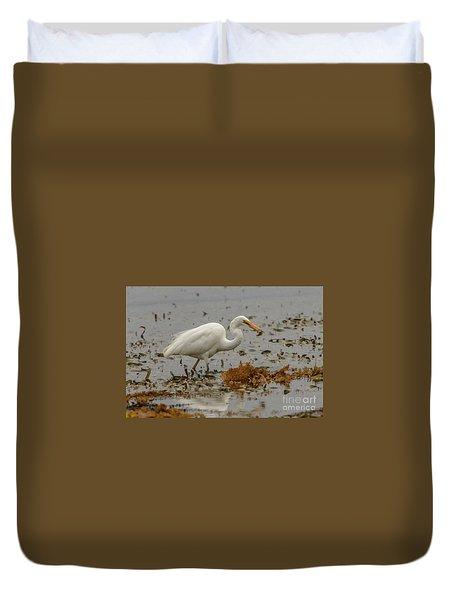 Eastern Great Egret 10 Duvet Cover