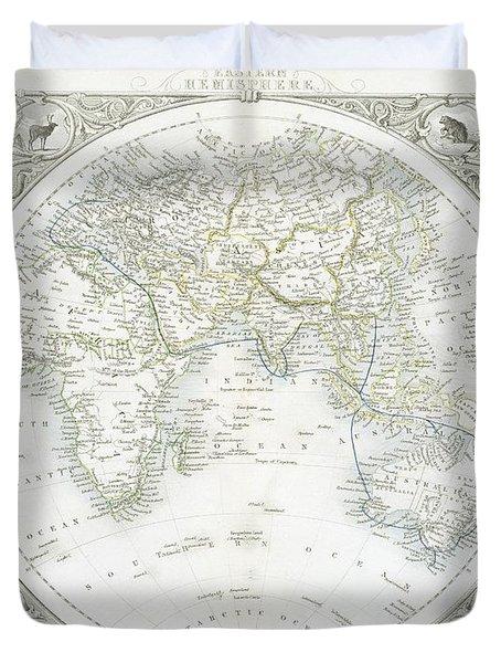 Eastern Hemisphere Duvet Cover