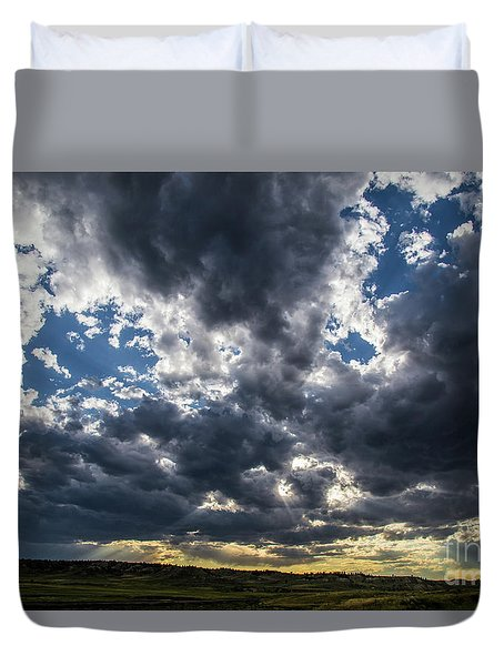 Eastern Montana Sky Duvet Cover by Shevin Childers