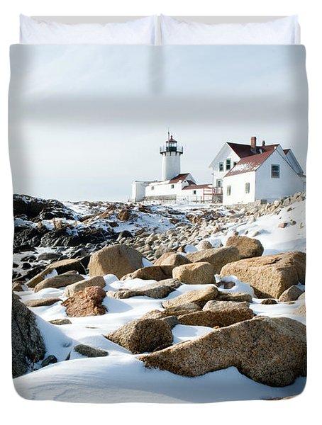Eastern Point Light II Duvet Cover