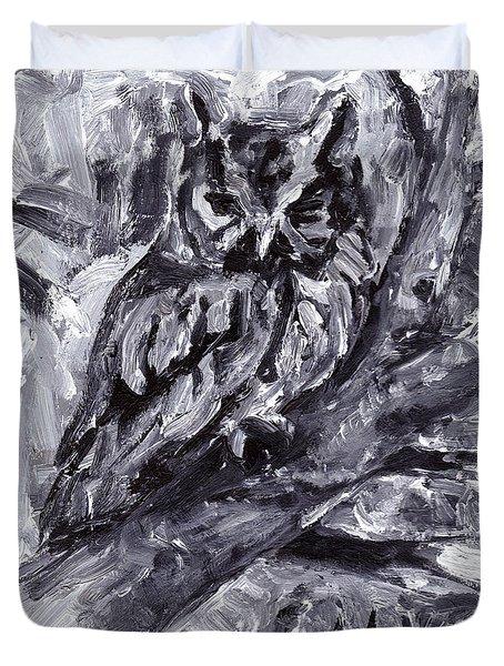 Eastern Screech-owl Duvet Cover