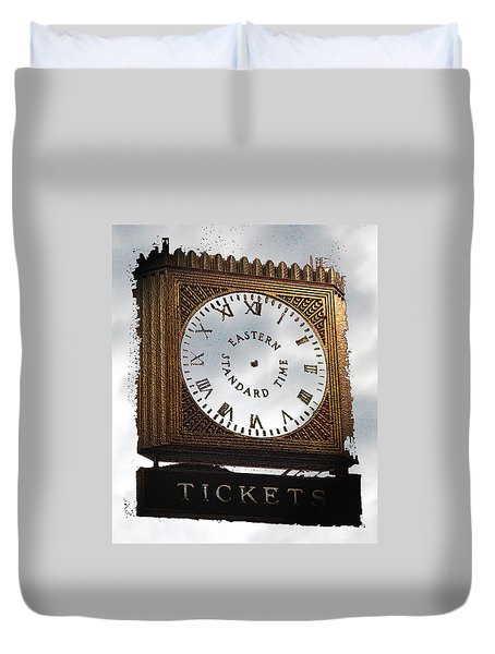 Eastern Standard Time Duvet Cover