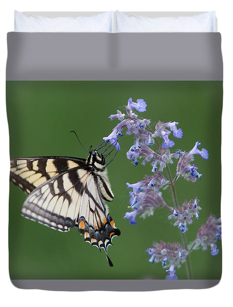 Eastern Tiger Swallowtail Profile Duvet Cover by Patti Deters