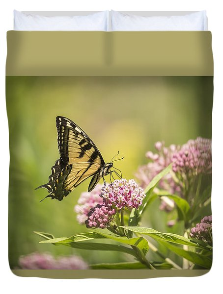 Eastern Tiger Swallowtail 1-2015 Duvet Cover by Thomas Young