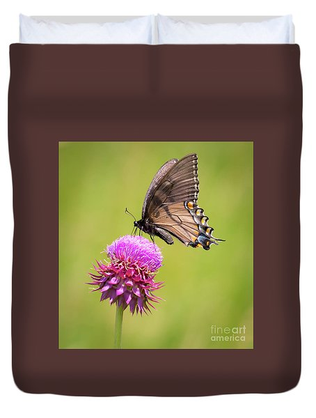 Eastern Tiger Swallowtail Dark Form  Duvet Cover