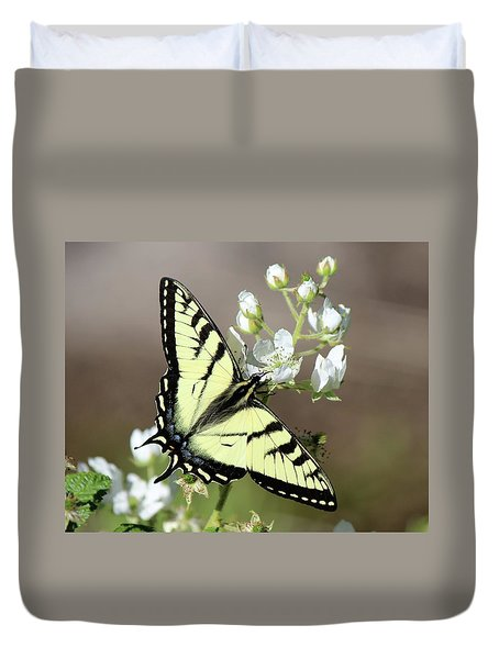 Eastern Tiger Swallowtail Female Duvet Cover