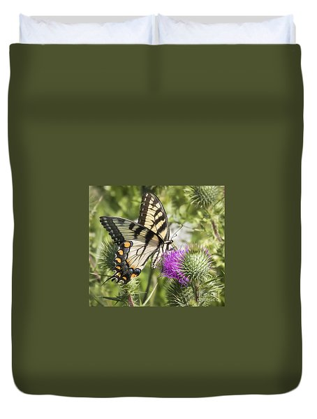 Eastern Tiger Swallowtail Duvet Cover by Ricky L Jones