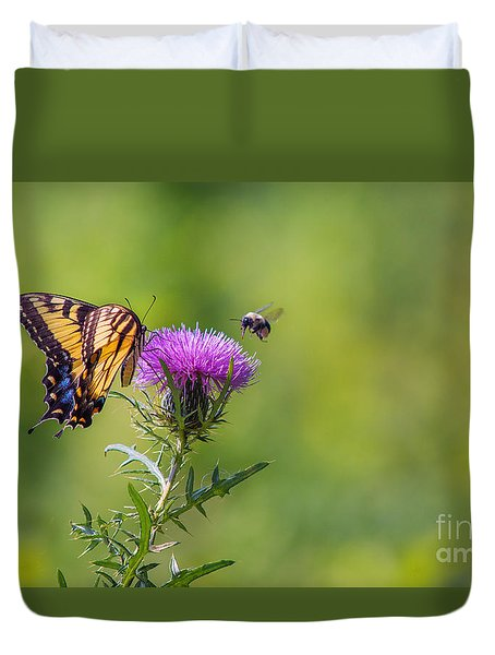 Duvet Cover featuring the photograph Eastern Tiger Swallowtail by Rima Biswas