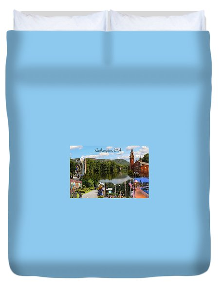 Easthampton Ma Collage Duvet Cover