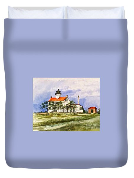 East Point Lighthouse Glory Days  Duvet Cover by Nancy Patterson