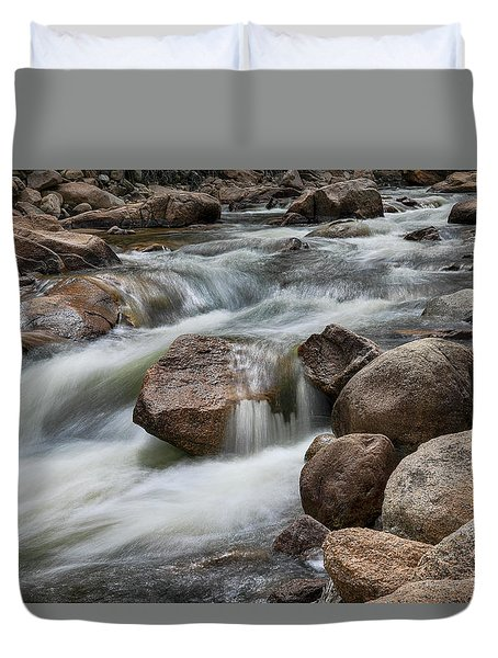 Duvet Cover featuring the photograph Easy Flowing by James BO Insogna