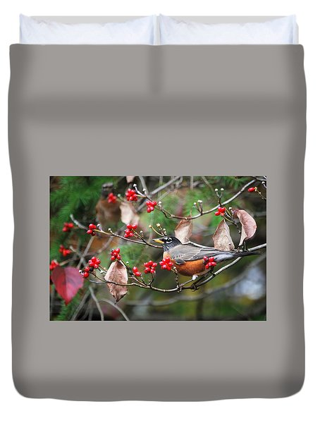 Easy Pickings Robin Duvet Cover