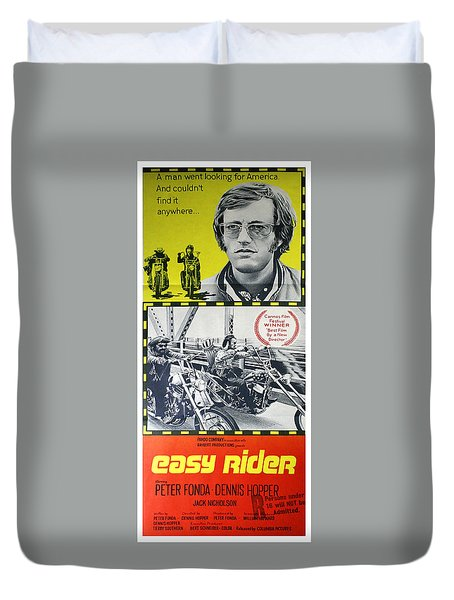 Easy Rider Movie Lobby Poster  1969 Duvet Cover by Daniel Hagerman