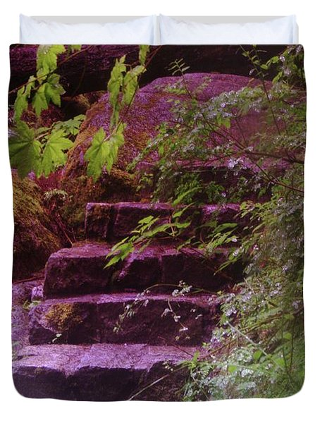 Easy Steps  Duvet Cover by Jeff Swan