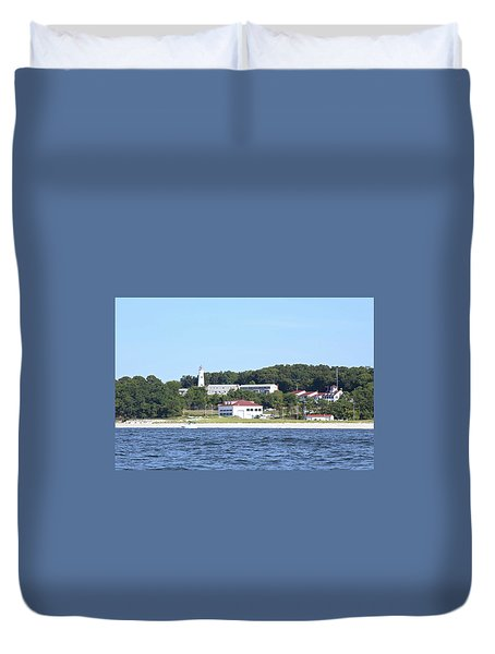 Eatons Neck Lighthouse Duvet Cover