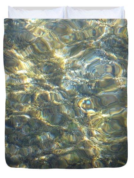 Duvet Cover featuring the photograph Eaux Du Lac by Marc Philippe Joly