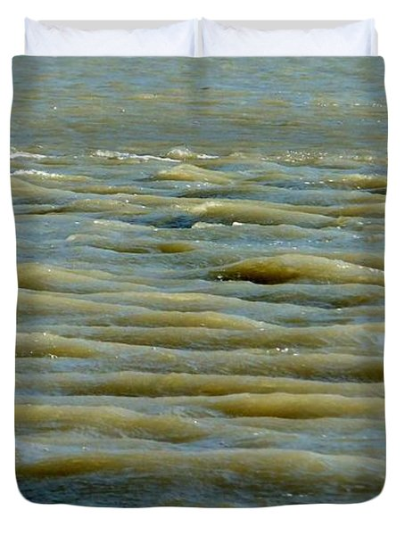 Duvet Cover featuring the photograph Eaux Vertes by Marc Philippe Joly