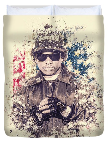 Eazy-e Splatter Painting Duvet Cover