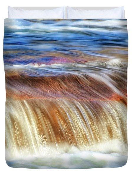 Ebb And Flow, Noble Falls Duvet Cover