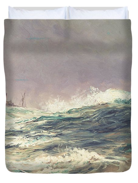 Ebb Tide Duvet Cover by William Lionel Wyllie