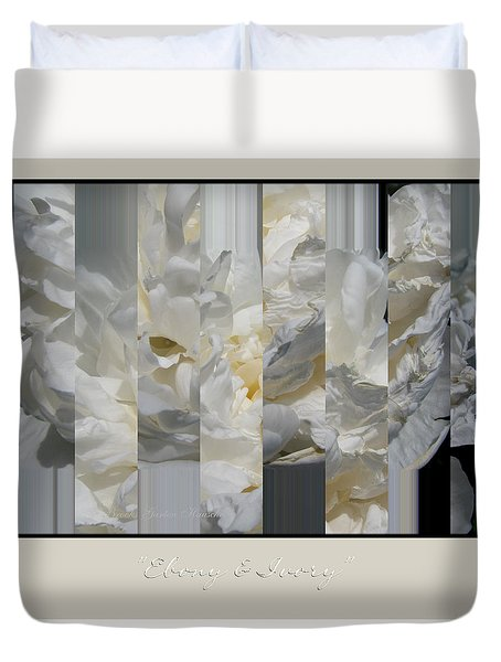 Duvet Cover featuring the photograph Ebony And Ivory Peony by Brooks Garten Hauschild