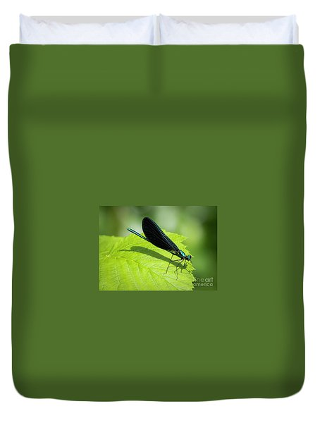 Ebony Jewelwing Duvet Cover