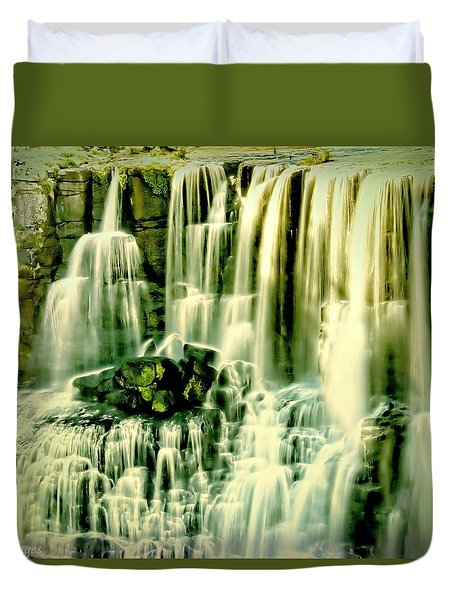 Duvet Cover featuring the photograph Ebor Falls, Australia by Wallaroo Images