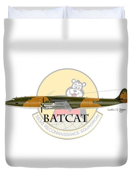 Ec-121r Batcat 553 Duvet Cover by Arthur Eggers