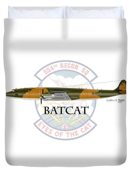 Ec-121r Batcat Duvet Cover by Arthur Eggers
