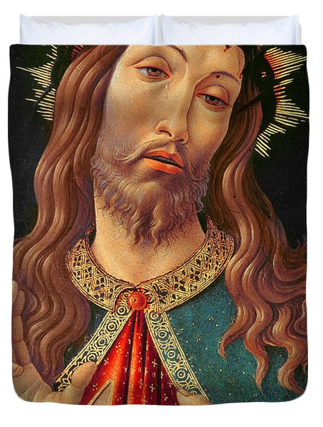 Ecce Homo Or The Redeemer Duvet Cover by Botticelli