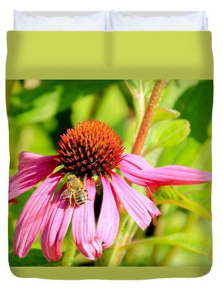 Echinacea Bee Duvet Cover