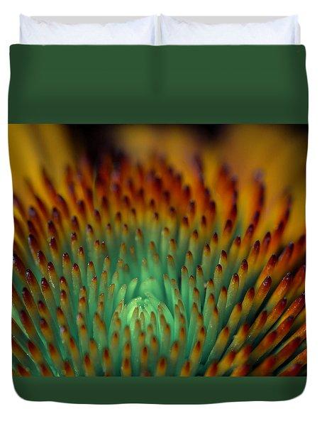 Echinacea Macro Duvet Cover