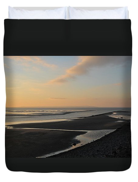 Duvet Cover featuring the photograph Echo by Harry Robertson
